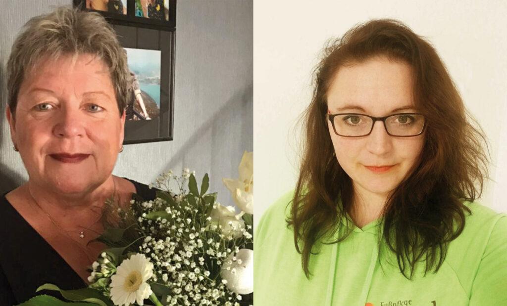Elke Schmitz (links) und Annette di Giusto (rechts)   (c) Renee Seidel